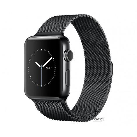 Apple Watch Series 2 38mm Space Black Stainless Steel Case with Space Black Milanese Loop (MNPE2)